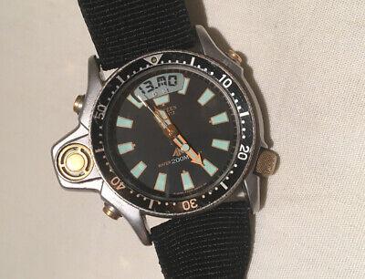Citizen Promaster Aqualand 200m Depth sensor SCUBA Vtg Dive Watch C023-088069