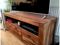 Solid Rose Wood TV Stand