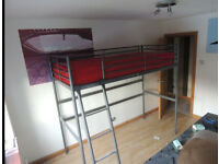 Quality Ikea Single High Sleeper Bunk Loft Cabin Bed Kids Child Teenager Student Bedroom Landlord