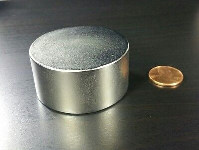 One 1 Large Neodymium N52 Cylinder Magnet Super Strong Rare Earth 50mm Disc
