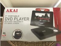 AKAI 7inch portable DVD player- BRAND NEW