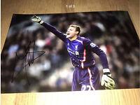 Hand Signed Liverpool Goalkeeper - Simon Mignolet, Genuine + COA