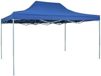 vidaXL Outdoor Garden Gazebo Foldable Tent Pop-Up Waterproof, Blue 3x4.5 m