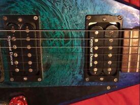 Jackson RR3 eerie des swirl guitar