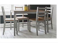 Silk Grey And Natural Pine dining table