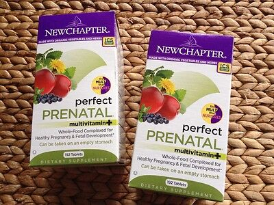 New Chapter Organics Perfect Prenatal Two 192ct Bottles 2/28/15 on Rummage