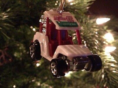 Mini Golf Cart Ornament Custom Chrome Mag Wheels 1/64 No Club Car Ez Go Yamaha