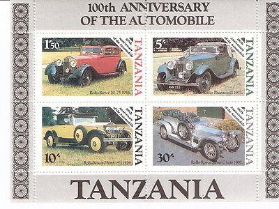Tanzania 1985 100th Anniv Automobile Classic Cars Souvenir Sheet MNH (SC# 266a)