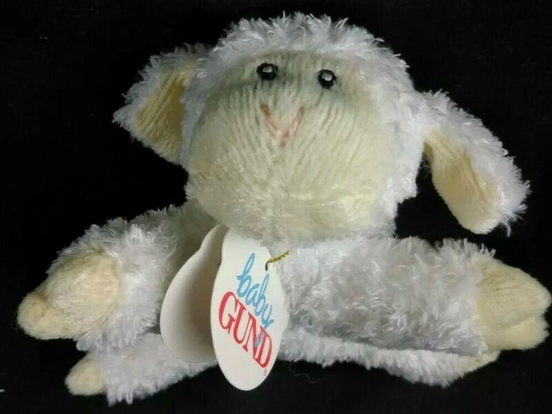 "BABY GUND Toodles 5849 ⭐NEW⭐ ORIGINAL TAGS⭐""SHAKE ME! I RATTLE""⭐ lamb 5"" plush❤️"