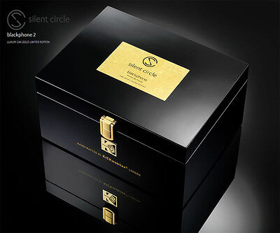 BNIB SILENT CIRCLE BLACKPHONE 2 GOLD 24K LUXURY LIMITED EDITION NUMBER 1 / 100