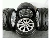 ** GENUINE 18'' AUDI ALLOYS WITH UNIROYAL TYRES, RS6 RS4 RS3 EXLUSIVE RARE 10 SPOKE **