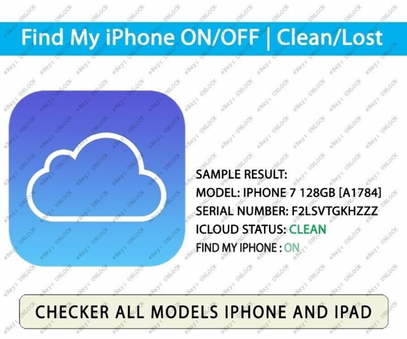 Check iCloud Status iPhone & iPad  Find My iPhone (FMI) ON   OFF / CLEAN   LOST
