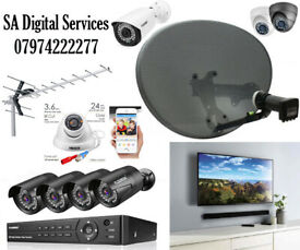 CCTV cameras installation and repairs TV wall mounting, Sky Satellite dish & TV Aerial installation