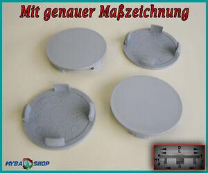 4x-COPRIMOZZO-COPERCHIO-MOZZO-59-5mm-radnabende-Cerchi-Coperchio-in-grigio-piatto-neu