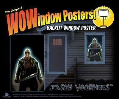 WOWindow Poster Jason Voorhees HALLOWEEN Window Decor Prop HAUNTED HOUSE SPIRIT - Wowindow Halloween