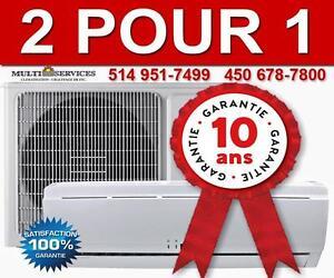 2 POUR 1  Thermopompe, Murale,spécial!, Éligible Subvention! Meilleur Prix Garantie! 514 951-7499  450 678-7800