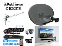 Sky satellite dish Aerial & TV wall mounting CCTV cameras installation and repairs 24/7 same day