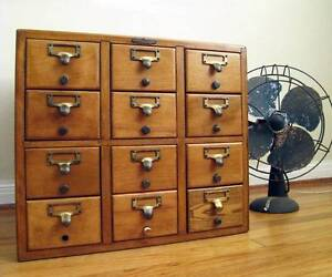 Old Timber Filing Drawers Wanted New Town Hobart City Preview