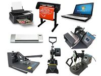 Print Business Heat Press Sublimation Printer Vinyl Cutter Mugs T shirt Printing Work From Home