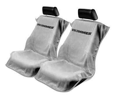 Seat Armour 2 Piece Front Car Seat Covers For Hummer - Grey Terry Cloth