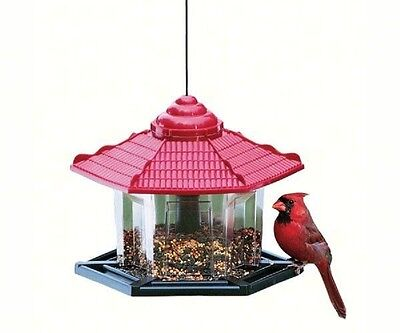 ARTLINES #6240 DELUXE GAZEBO BIRD FEEDER, 4# SEED CAPACITY, Made in the USA