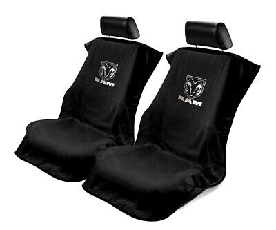 Seat Armour Universal Black Towel Front Seat Covers for New Dodge Ram -Pair
