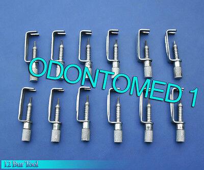 12 Bur Tool Surgical Dental Instruments
