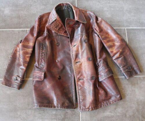Original German WW 2 NS Kraftfahrkorps Leather Jacket - RZM marked