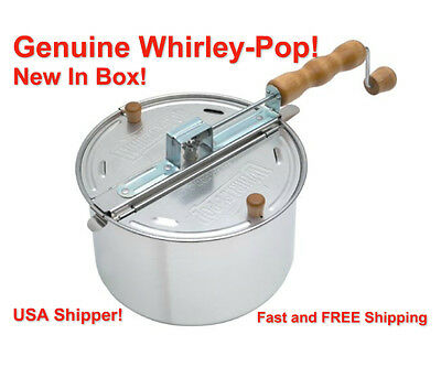 Whirley Pop Stovetop Metal Gear Popcorn Popper Wabash Valley