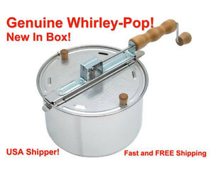NEW Wabash Valley Farms 25008 Whirley-Pop Stovetop Popcorn Popper FREE SHIPPING!