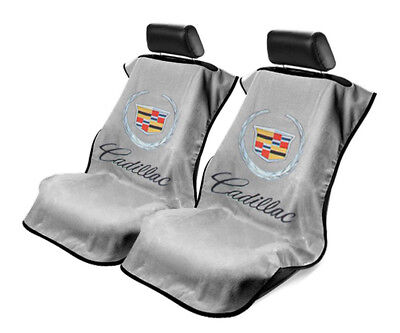 Seat Armour 2 Piece Front Car Seat Covers For Old Cadillac - Grey Terry Cloth