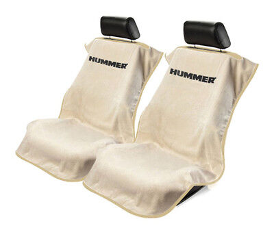 Seat Armour 2 Piece Front Car Seat Covers For Hummer - Tan Terry Cloth