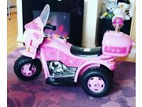 Girls pink electric princess bike