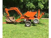 Powerfab 125w Digger trailer machine honda hydraulic tractor back hoe mini digger bucket kubota