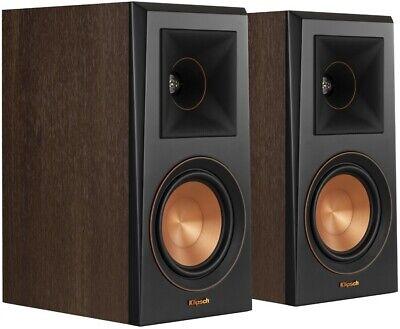 Klipsch RP-500M Speakers - Bookshelf Home Loudspeakers WALNUT PAIR