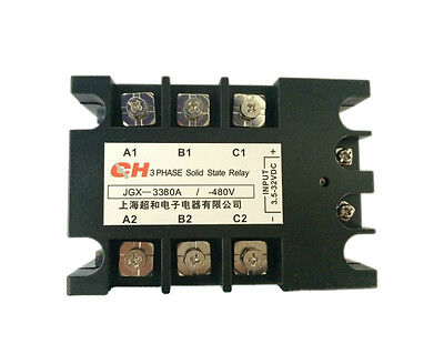 Solid State Relay Ssr 80a Dc To Ac 3.5-32vdc480vac 3 Phase Indicator Light