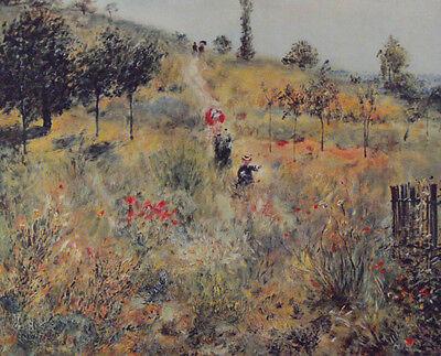 RENOIR, Auguste Motiv: Weg durch die Wiesen- hochw. LICHTDRUCK Kunstdruck NEU