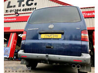 VW T5 Van fitted with a Proflow Mid/ Rear Exhaust with Twin Tip Tailpipe