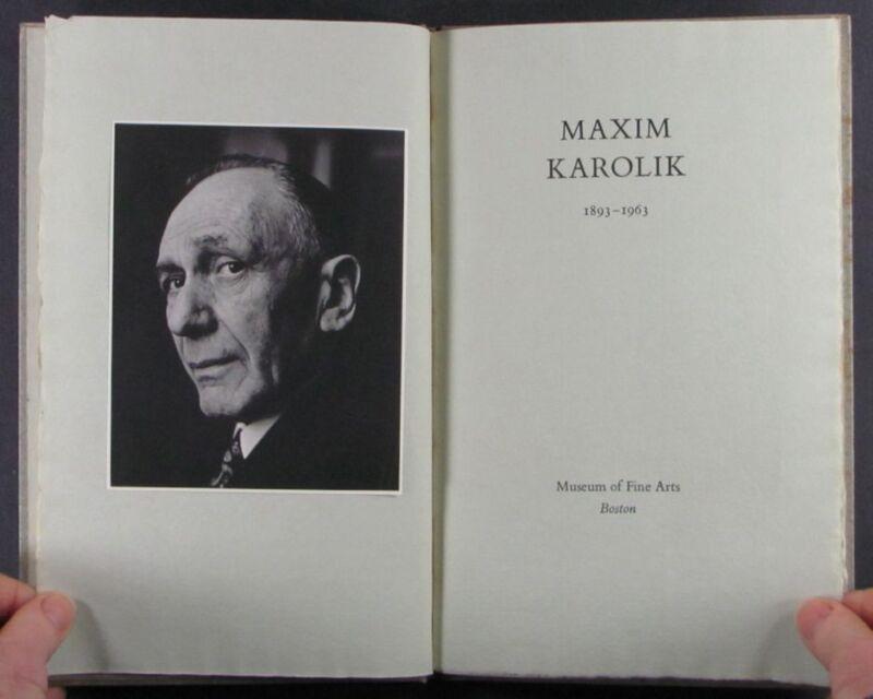 Maxim Karolik, Early American Furniture & Art Collector - 1963 Memorial