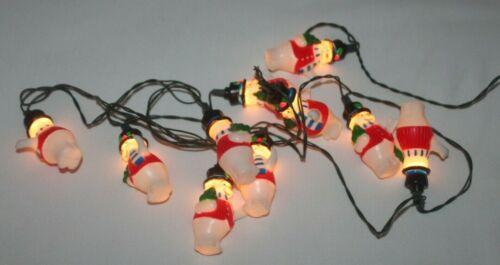 Vintage Snowman Christmas String Light Set - 10 Lights