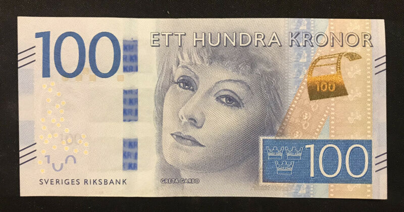 100 SEK Swedish Kronor Banknote, aUNC, 2016 Series