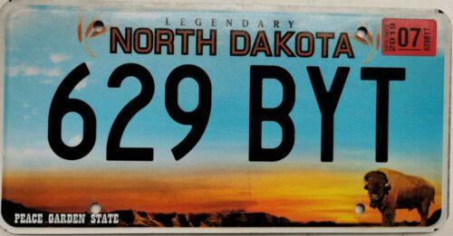 Kennzeichen License Plate United States US USA North Dakota Peace Garden State