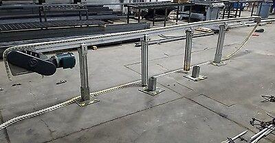 4 X 20 Plastic Chain Conveyor. Aluminum Construction 230480v Motor