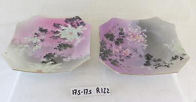 Pair Of Saucers Porcelain Japanese Japan 900 Japan Porcelain R122