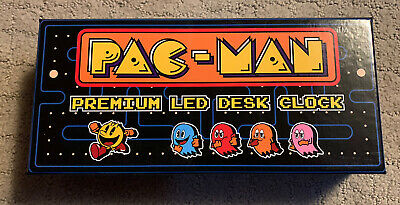Pac-Man Collectable Premium LED Desk Clock Raw Thrills Limited Edition Used