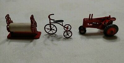 Red Metal Paper Dispenser Tricycle Tractor Victorian Store Dollhouse Miniatures for sale  Oakley