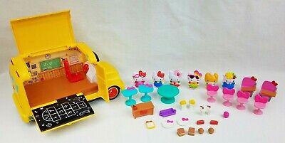 Hello Kitty School Bus (2015 Sanrio Hello Kitty School Bus and Accessories #96981 w/ Food Truck Parts)