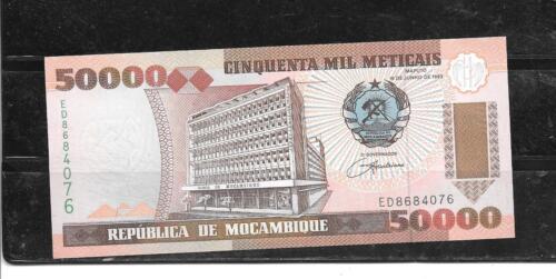 MOZAMBIQUE #138 1993 UNC MINT  50000 METICAIS BANKNOTE PAPER MONEY BILL NOTE