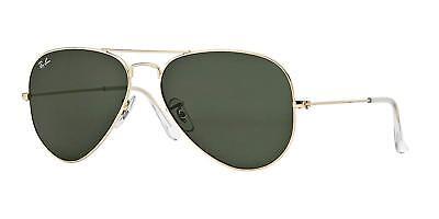Ray Ban Sonnenbrille Klassisch Aviator RB 3025 L0205 58mm Gold mit / G-15 Grün
