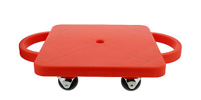 Get Out!™ Plastic Gym Class Scooter Board in Red Wide Handles
